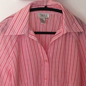 Tailored Pink & White Blouse by Puli